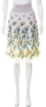 Armani Collezioni Floral Plissé Skirt w/ Tags