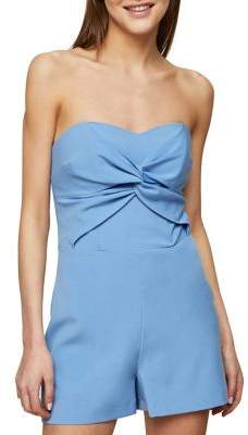 Miss Selfridge Twist-Front Bandeau Playsuit