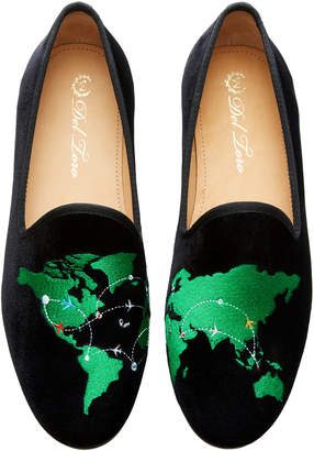 Del Toro x Moda Operandi World Traveler Velvet Loafers