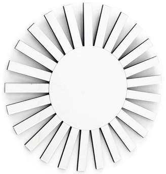"Fab Glass and Mirror THE RISING SUN Decorative Sunburst Wall Mirror Design, 35.5""L x 35.5""W"