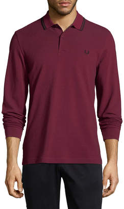 Fred Perry Long Sleeve Twin Tipped Polo