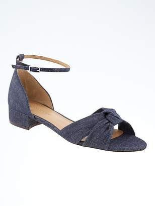 Knotted Low Heel Sandal $88 thestylecure.com