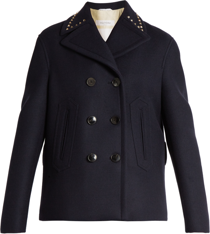 Valentino VALENTINO Rockstud Untitled #2 double-faced pea coat