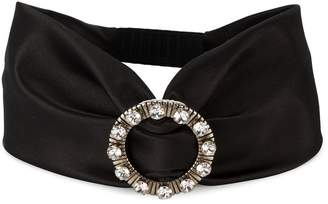 Miu Miu crystal buckle headband