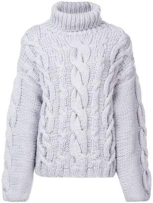 Marina Moscone chunky knit roll neck jumper