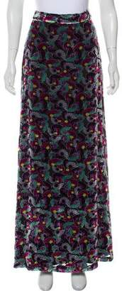Diane von Furstenberg Velvet Maxi Skirt w/ Tags
