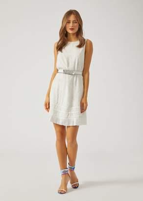 Emporio Armani Ramage Fil Coupe Sleeveless Dress