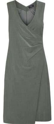 Theory Karianna Wrap-Effect Wool-Blend Dress