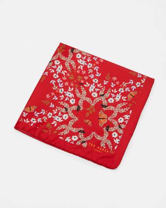 ITSREAL Koyoto Gardens print silk pocket square