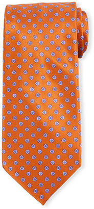 Stefano Ricci Neat Floral-Patterned Silk Tie $250 thestylecure.com