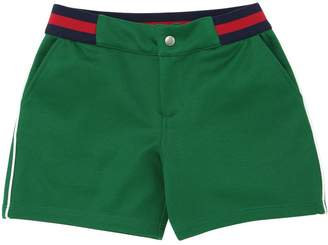 Gucci Cotton Blend Shorts W/ Web Waistband