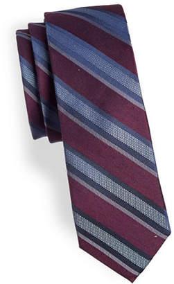 Calvin Klein Striped Silk-Blend Tie
