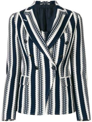 Tagliatore striped knitted blazer