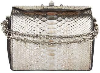 Alexander McQueen Metallic Python Box Bag 19