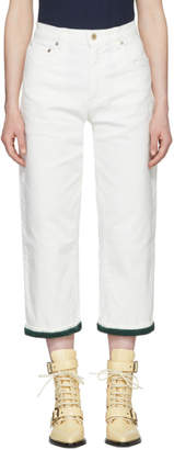 Carven White Boyfriend Jeans