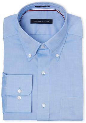 Tommy Hilfiger Blue Regular Fit Button-Down Dress Shirt