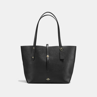 COACH Coach Market Tote In Polished Pebble Leather $295 thestylecure.com