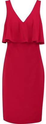 Badgley Mischka Layered Crepe Dress