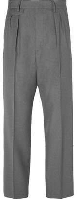 Gucci Wide-Leg Pleated Wool Trousers