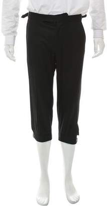 Alexander McQueen Cropped Wool Pants