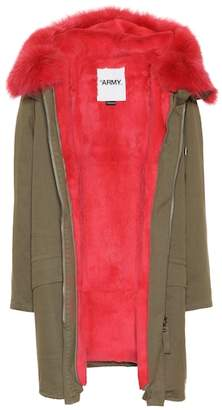 Yves Salomon Army Fur-trimmed cotton coat