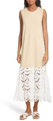 See by Chloe Eyelet Panel Dress