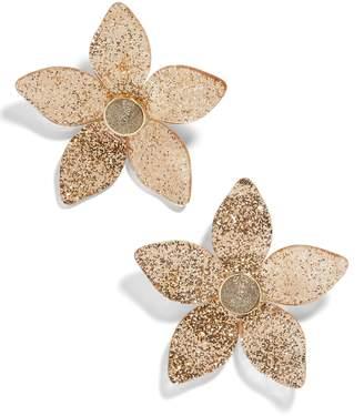 BaubleBar Glitter Resin Flower Earrings