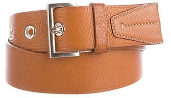 prada Prada Leather Buckle Belt