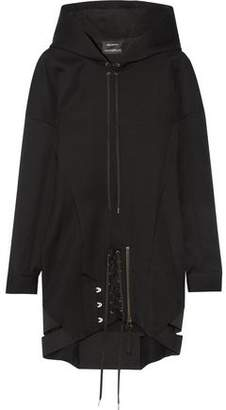 Anthony Vaccarello Hooded Lace-Up Wool Dress