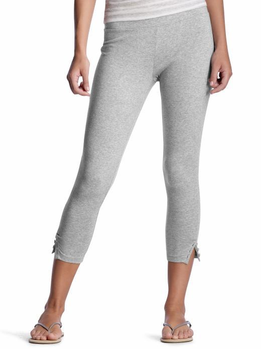 Cropped button leggings