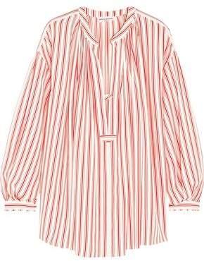 Sonia Rykiel Striped Silk Crepe De Chine Blouse