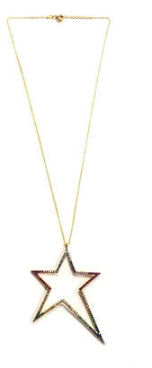 Lets Accessorize Rainbow Star Necklace