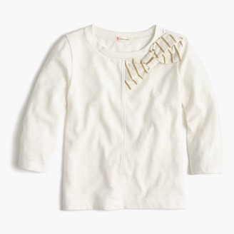 Girls' holiday bow T-shirt $32.50 thestylecure.com
