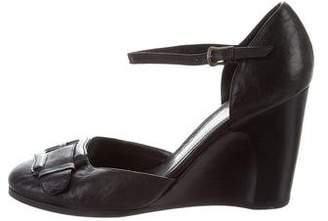 Fendi Leather Ankle Strap Pumps