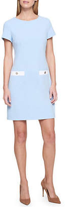 Tommy Hilfiger Scuba Crepe Pocket Shift Dress