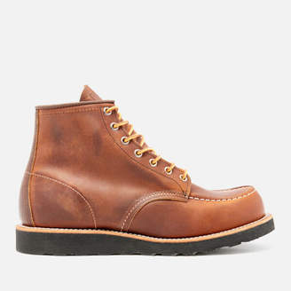 c163ff87496 Red Wing Shoes Men s 6 Inch Moc Toe Leather Lace Up Boots - Copper Rough and