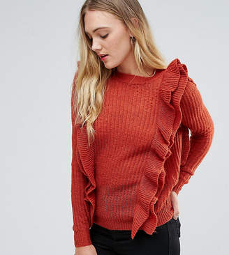 Y.A.S Tall Oversized Ruffle Sweater