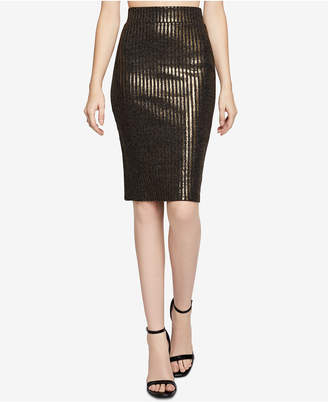 BCBGeneration Striped Metallic Pencil Skirt