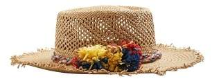 Violeta BY MANGO Flowers straw hat