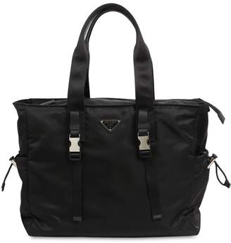 Prada Nylon & Leather Tote Bag