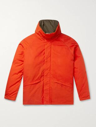 Aspesi Garment-Dyed Waxed-Cotton Hooded Down Jacket