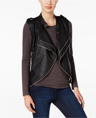 Buffalo David Bitton Zippered Faux-Leather Vest $79 thestylecure.com