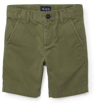Children's Place The Boy's Flat Front Twill Short