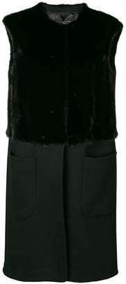 Salvatore Ferragamo mink fur detailed vest