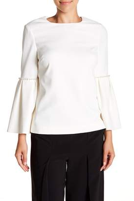 Ted Baker Pearl Trim Bell Sleeved Top