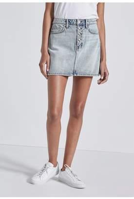 Current/Elliott The Zig-Zag 5-Pocket Mini Skirt
