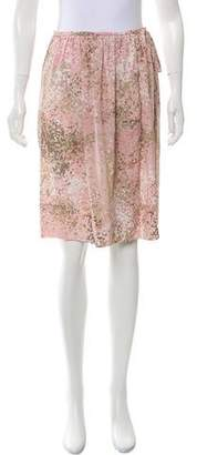 Akris Punto Silk Printed Skirt w/ Tags