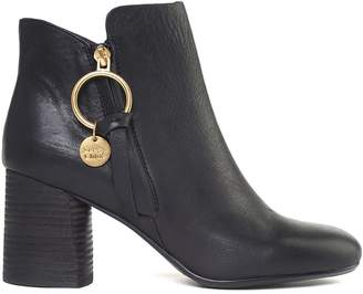 See by Chloe Howl Leather Ankle Boots