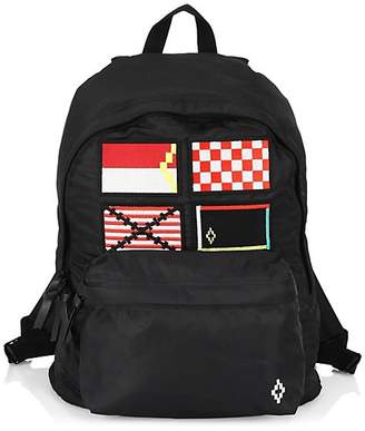 Marcelo Burlon County of Milan Multicolor Flags Graphic Backpack