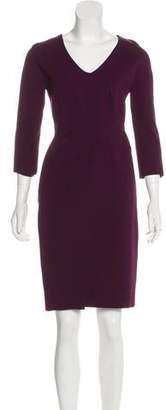 J. Mendel Long Sleeve Knee-Length Dress